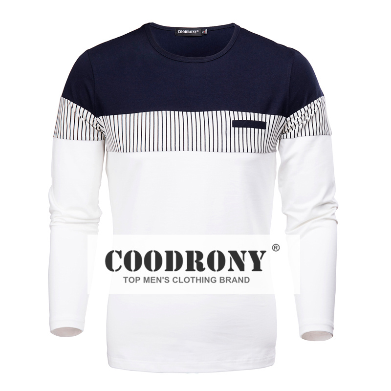 t shirt male spring and autumn long sleeved o neck