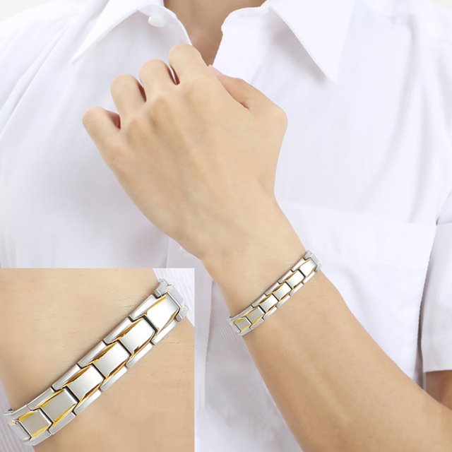 316 Stainless Steel Magnetic Therapy Healthy Energy Bracelet