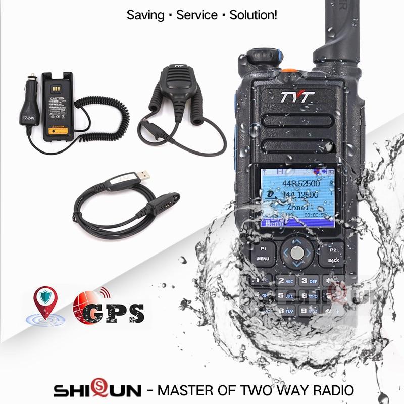 Optional GPS IP67 Waterproof DMR Walkie Talkie Dual Band MD-2017 TDMA Better Baofeng DMR DM-8HX DM-5R DM-5R Plus TYT DMR Radios