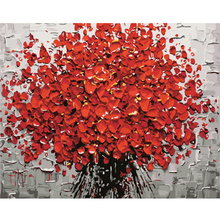 Red Flower DIY Digital Painting By Numbers With Abstract Home Decor 40x50cmx1p Kits Coloring Paint For Mothers Gift
