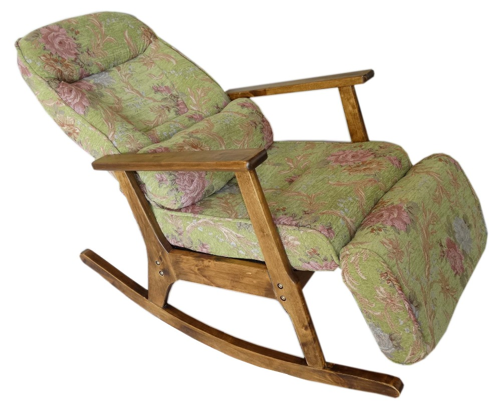 vintage furniture modern wood rocking chair for aged people japanese style recliner easy chair with armrest - Wood Rocking Chair