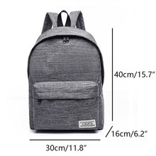 Classical Simple canvas Backpacks School bag for teenagers Girls Student book Laptop Back pack travel Mochila