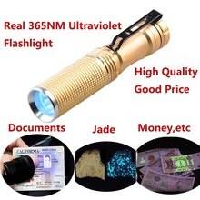 [Free Ship] 365nm Wave Band Ultra Violet  Blacklight 5W Power Purple Handheld Clip Flashlight For Urine, Blood,Jewelry,Detect