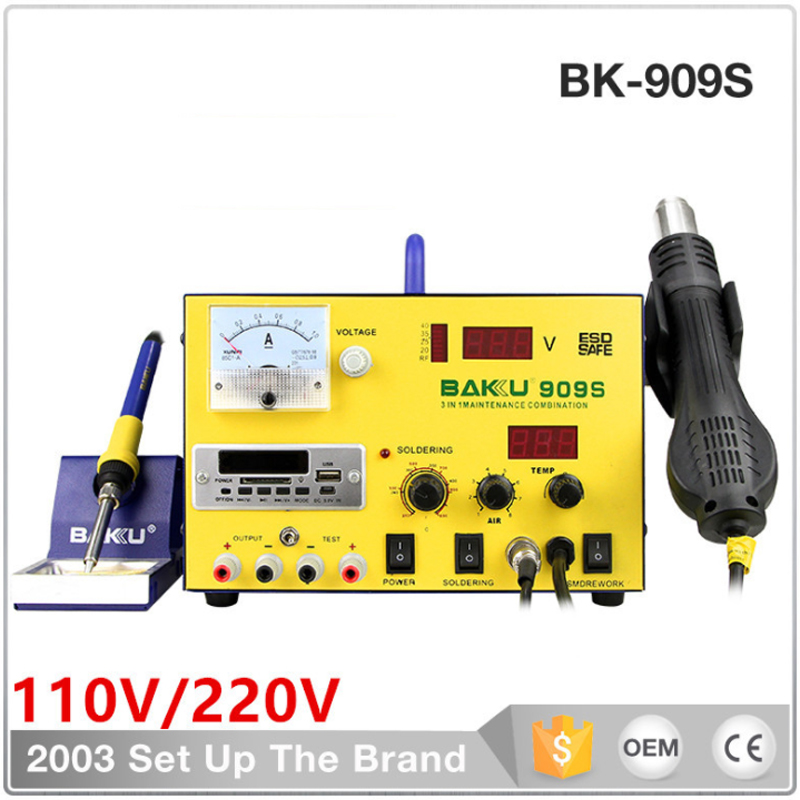 BK-909S double digital display soldering iron, combo welding station, digital repair tools