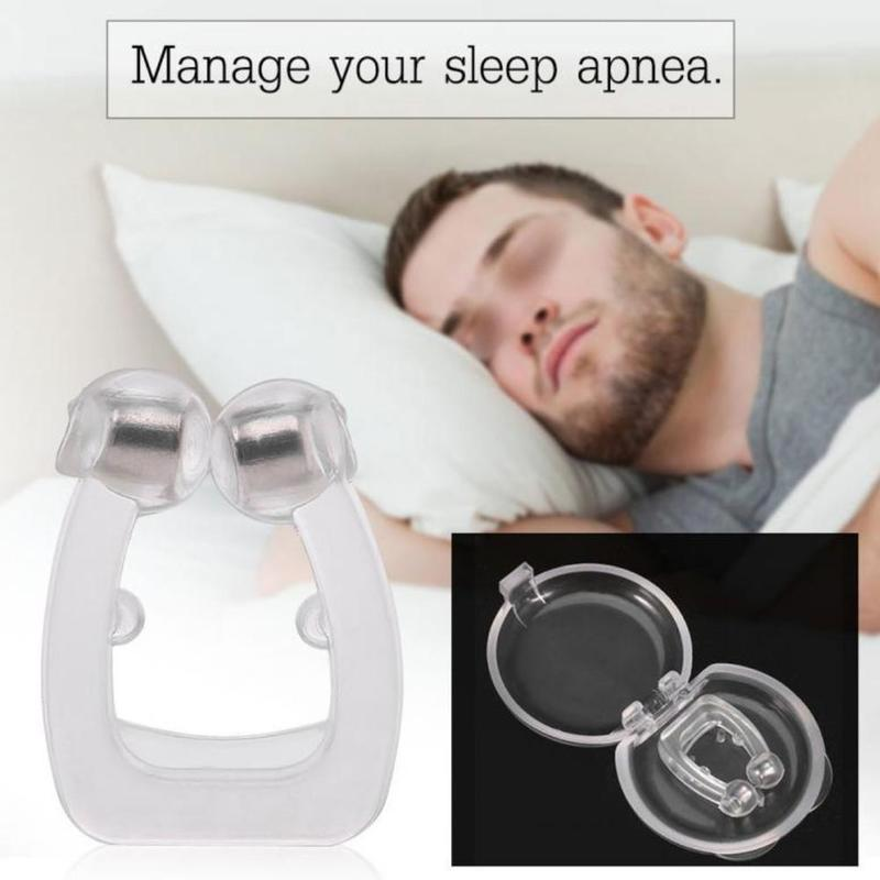 Anti Snoring Nose Clip Silicone  Breathing Snore Stopper Anti-snoring Device For Sleeping Apnea With Case Health Care Tools