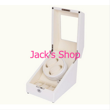 Free shipping White 2 3 Watch Winder Wood Case Box Carbon Fiber PU Wooden Watch Winder