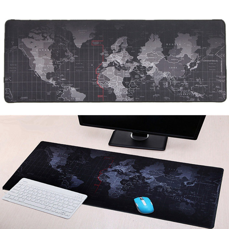 900x400mm World Map Speed Keyboard Mouse Pad Large Size Rubber Mat Computer Gaming Mousepad Gamer Locking