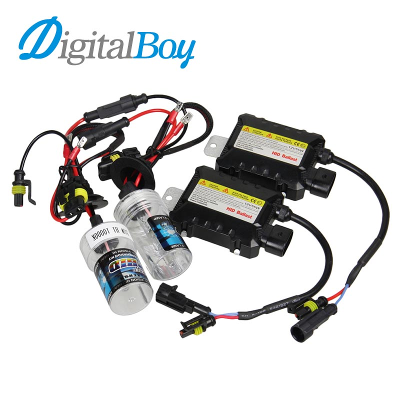 Digitalboy 12V DC 35W HID H1 Xenon Ballast kit Slim Block with Bulbs Lights Headlight 5000k 6000k 8000k Car Front Light Lamp digitalboy 12v dc 35w hid h1 xenon ballast kit slim block with bulbs lights headlight 5000k 6000k 8000k car front light lamp