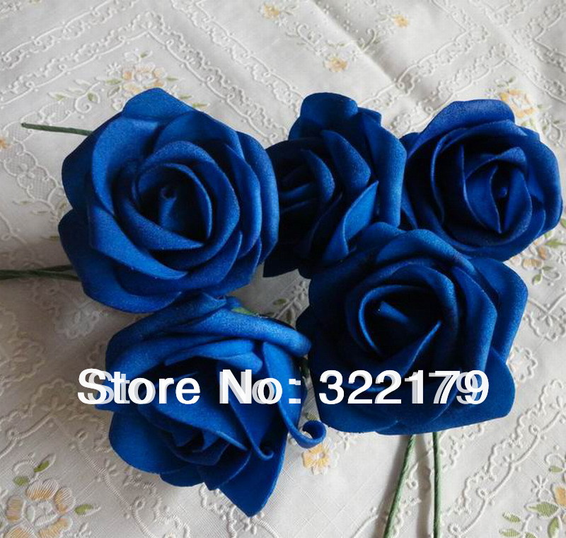 50x Royal Blue Roses Artificial Flowers Diy Bridal Wedding Bouquet Centerpices Whole Lots In Dried From Home Garden On