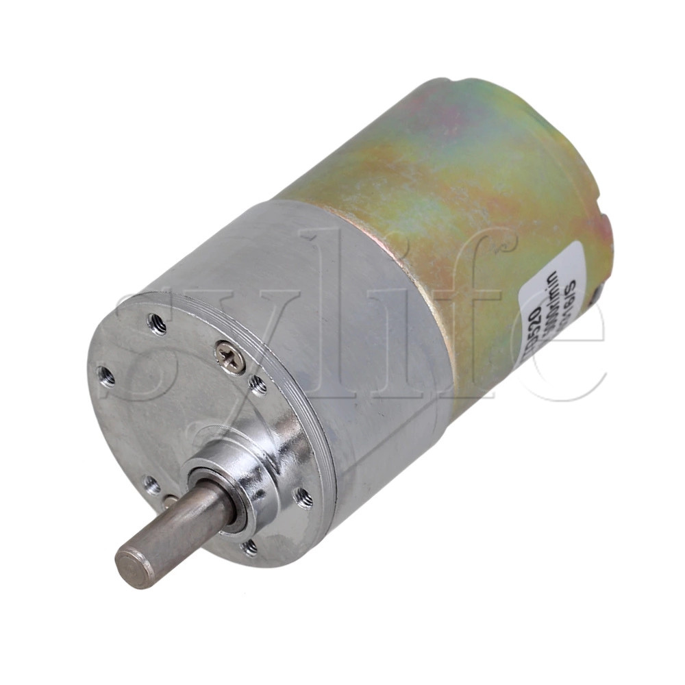 New Reversible 12V DC 100 RPM Gear-Box Speed Control Electric Motor
