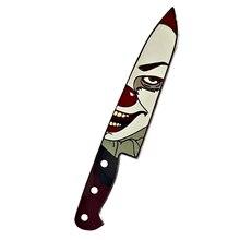 Pennywise chapa de payaso para Halloween, broche de cuchillo asesino, IT de Stephen King, pin de película, joyería de horror