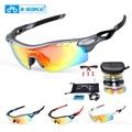 Polarizado ciclismo gafas 5 lente transparente vidrios de la bici gafas UV A Prueba de deporte gafas de sol hombres mujeres oculos gafas ciclismo