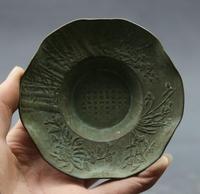 4.1 Collect Old Chinese Bronze 'Mei Lan Zhu Ju' Four Seasons Flower Small Plate