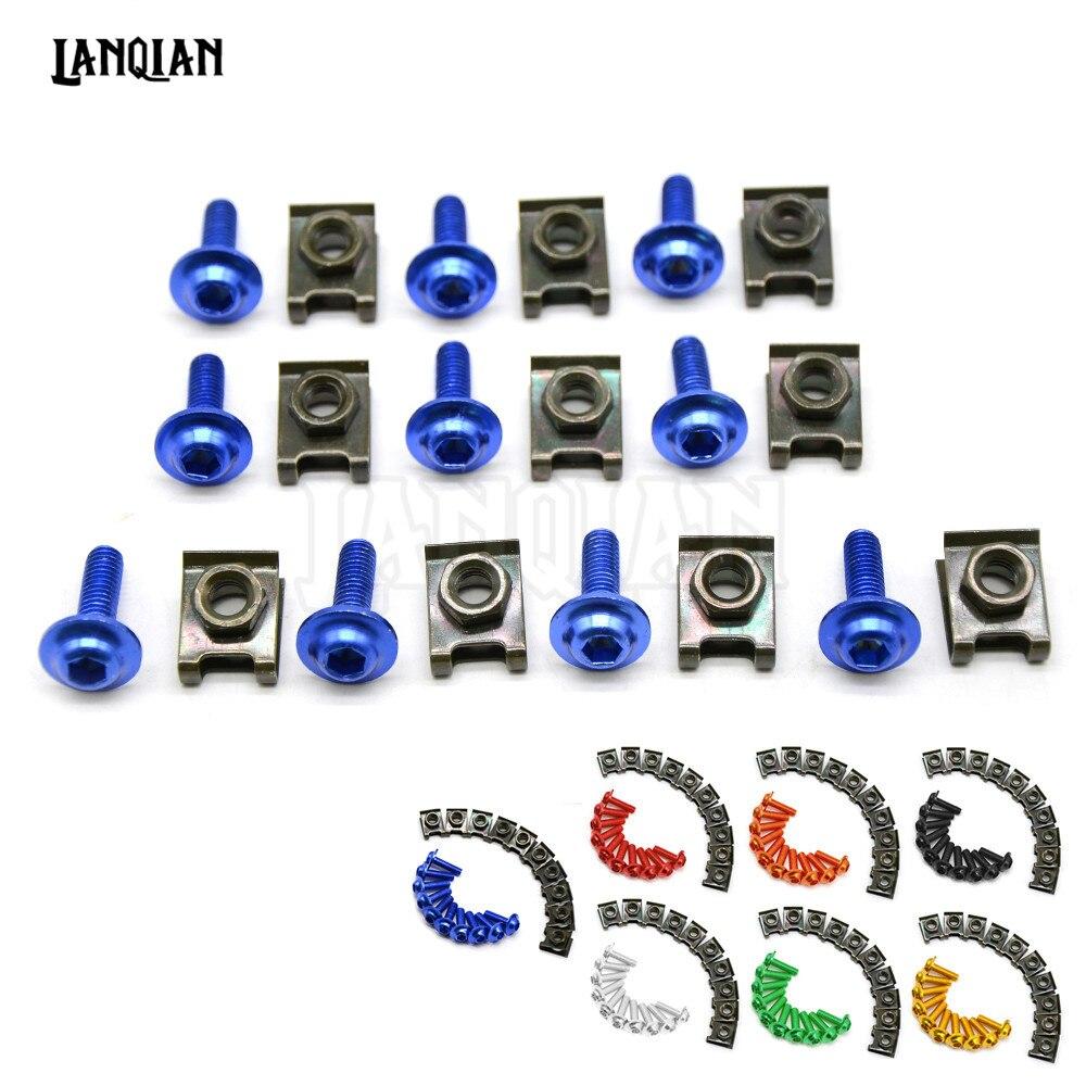 Universal 6MM Motorcycle Accessories Fairing body work Bolts For BMW F650GS F800GS F800R F700GS Honda CBR500R CB500F CB500X