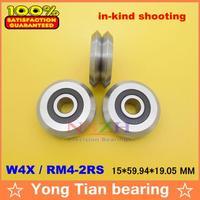 1pcs RM4 2RS W4X 15 59 94 19 05 Mm V Wheeles W Groove Sealed Ball