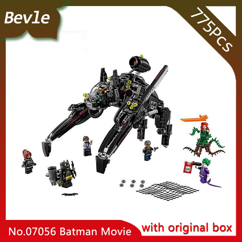Bevle Store LEPIN 07056 775Pcs with original box Batman movie Series Scuttler Spaceship Building Blocks For Children Toys 70908 bevle store lepin 22001 4695pcs with original box movie series pirate ship building blocks bricks for children toys 10210 gift