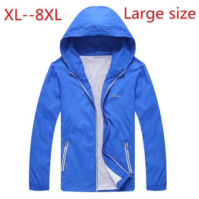 2016 nova chegada Extra grande jaqueta masculina primavera outono revestimento de Poeira fina grande sizewindproof oversized plus size 4XL 5XL 6XL 7XL 8XL
