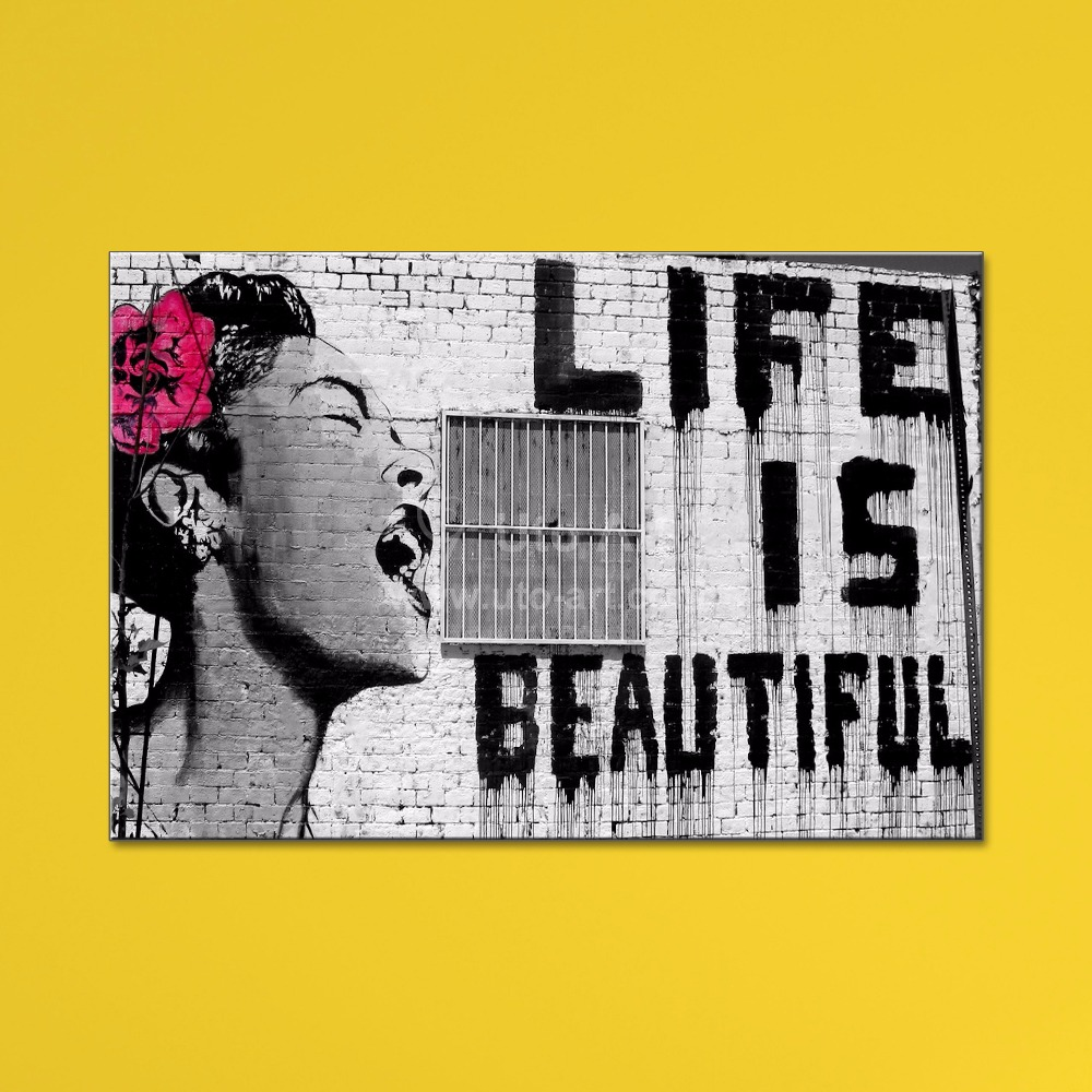 Guarantee Banksy Canvas Art Painting Modular Pictures of Life is ...