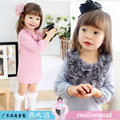 2016 New Arrival New Chiffon The In Spring And Autumn Girl Children Lovely Princess Dress Girls Long-sleeved Beautiful Flowers