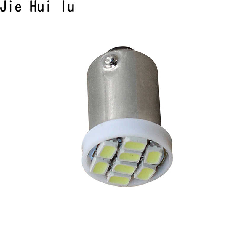 1PCS High Quality T4W BA9S 8 SMD 1206 LED Interior Light 3020 8smd Wedge Auto Reading Dome Lamps Car Marker Light 8led DC 12V