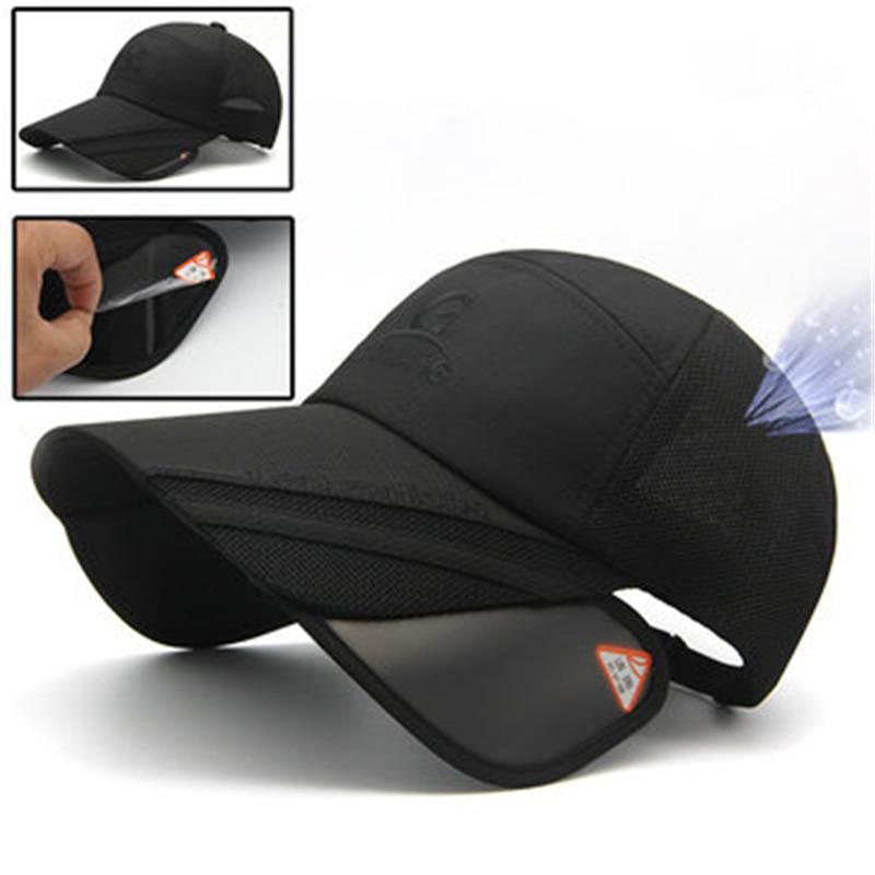 4cd7c930b5f Fashion Unisex Men Women Polyester Mesh Wide Brim Baseball Cap Adjustable  Breathable Outdoor Hat Hat Man Bone Women Golf Hats -in Baseball Caps from  Apparel ...