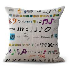 Music Note Cushion Cover