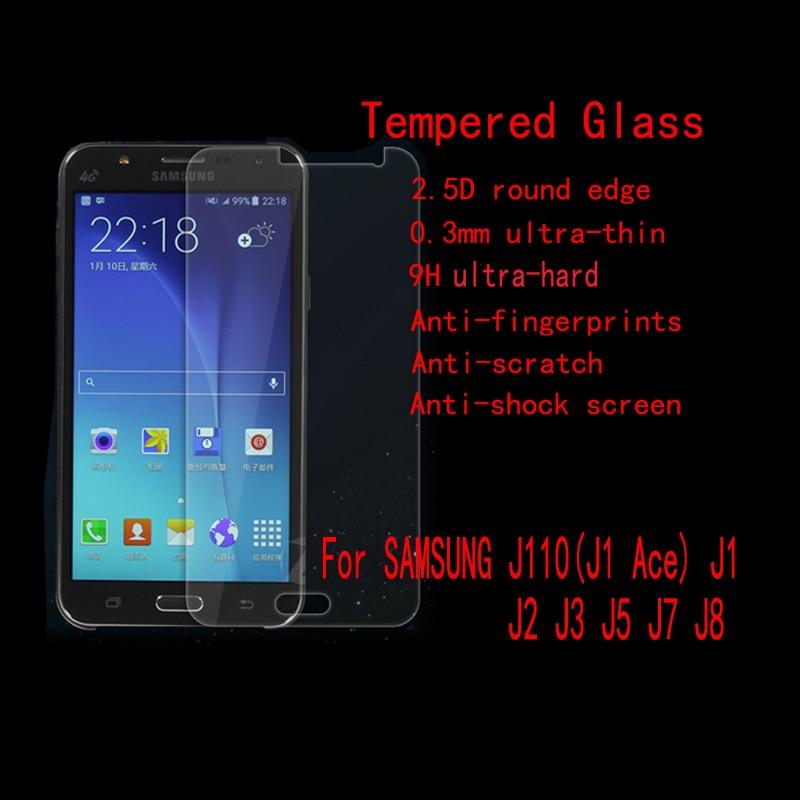 Tempered Glass Protector For Samsung J110 J1 Ace J100 Mini J105 J2 J200 J3 J5 J500 J7 J700 J8 Without Retail Package