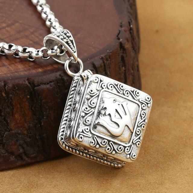 Online shop handcrafted om ghau 925 silver tibetan om gau box handcrafted om ghau 925 silver tibetan om gau box pendant vintage sterling silver buddhist prayer box pendant aloadofball Gallery