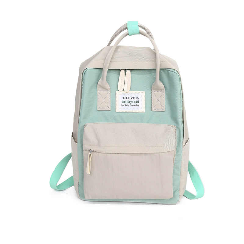 Daffdiol Women Backpack School Bag for Teenagers College Canvas Backpack Female Zipper Fashion 15inch Laptop H20