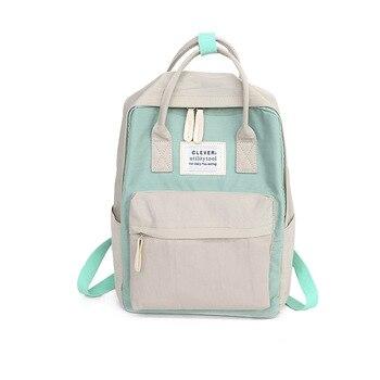 96d8bbc72c7b Daffdiol Для женщин рюкзак школьный портфель для подростков Колледж тканевый  женский рюкзак на молнии модные 15 дюймовый ноутбук H20
