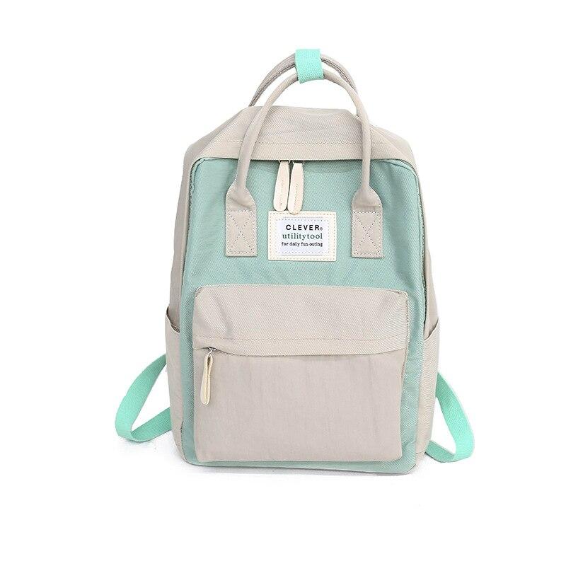 Daffdiol Women Backpack School Bag For Teenagers College Canvas Backpack Female Zipper Fashion 15inch Laptop H20