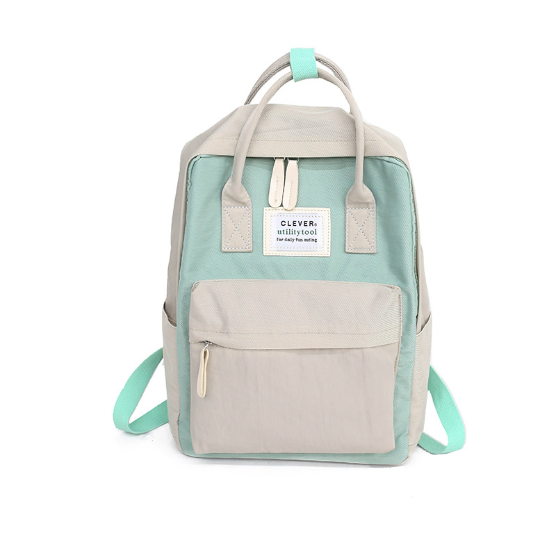 Daffdiol Women Backpack School Bag for Teenagers College Canvas Backpack Female Zipper Fashion 15inch Laptop H20 image