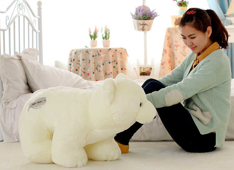 middle size lovely The polar bear toy white plush standing polar bear doll gift about 55cm 0084 the huge lovely hippo toy plush doll cartoon hippo doll gift toy about 160cm pink