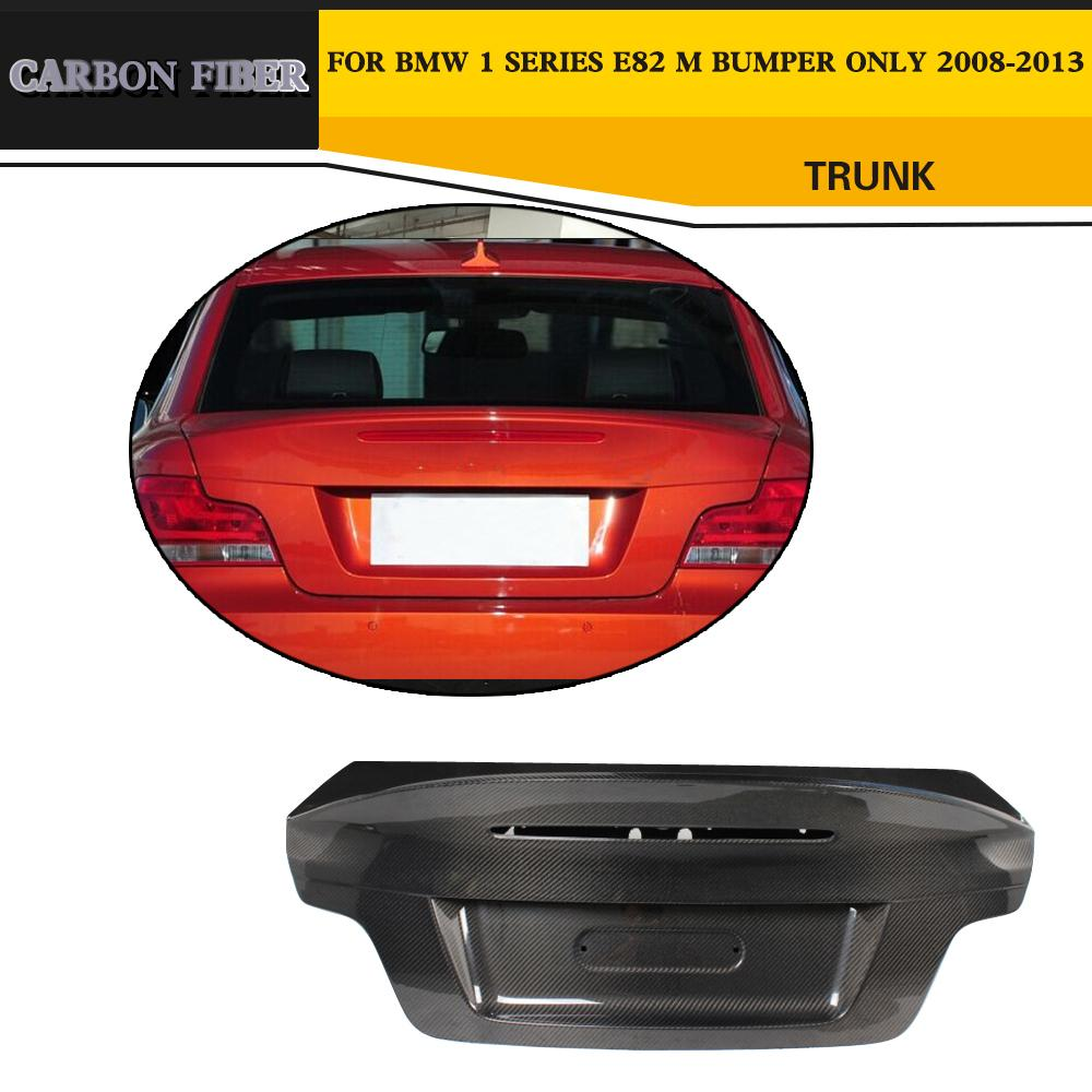 Car Style Carbon Fiber boot flaps Rear trunk for bmw e82 M Only 2008-2013