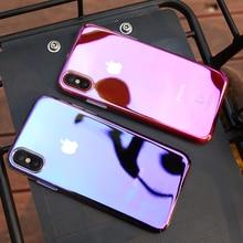 FLOVEME For iPhone X 7 6 6S Plus 5 5S Case Blue Light Cases For Samsung