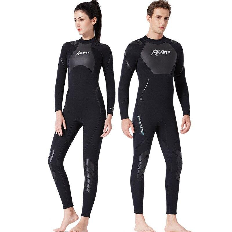 C379 combinaison de plongée 3 MM siamois plongée en apnée surf vêtements pour hommes et femmes épaississement chaud hiver maillot de bain méduses vêtements