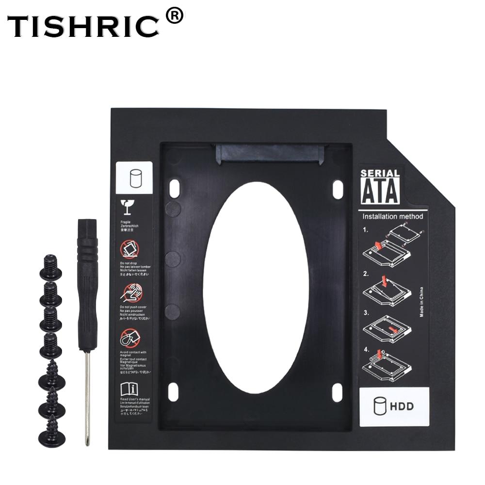 TISHRIC Universal Optibay SATA 3.0 2nd HDD Caddy 12.7mm For 2.5