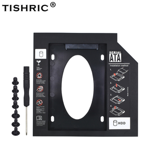 TISHRIC Universal Optibay SATA 3.0 2nd HDD Caddy 12.7mm for 2.5