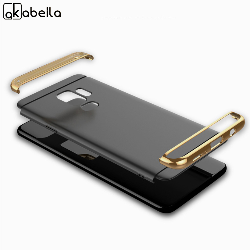 AKABEILA Plating Plastic Case For Samsung Galaxy S9 Plus Case Back Cover For S9+ G9650 G965F 6.2InchCoque Funda Anti-Knock Etui