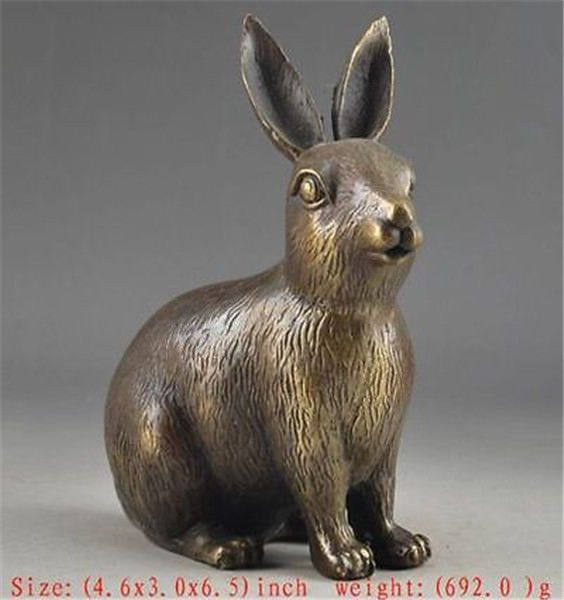 Details about Chinese Brass Lifelike Old Collectable Handwork Rabbit StatueDetails about Chinese Brass Lifelike Old Collectable Handwork Rabbit Statue