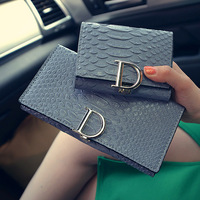 2018 New Arrival Beautiful D Shape Women Long Wallet High Quality Fashion Wallet Clutch With Card