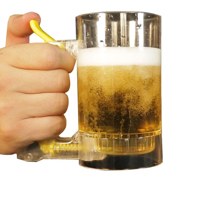 Shatterproof Beer Mug with Foamer