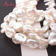 """8x10mm Freeform White Freshwater Pearl Beads Natural Stone Beads For DIY Necklace Bracelets Jewelry Making 14.5"""" Free Shipping"""