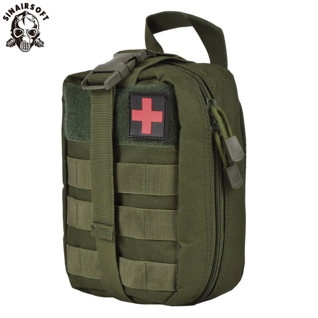 SINAIRSOFT Nylon First Aid Bag Tactical Molle Medical Pouch EMT Emergency EDC Rip-Away Survival IFAK Utility Car Airsoft Hunting