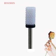 Белая керамическая дрель для ногтей Bit-20Pcs/лот-небольшое сверло в виде бочонка-(0090,060