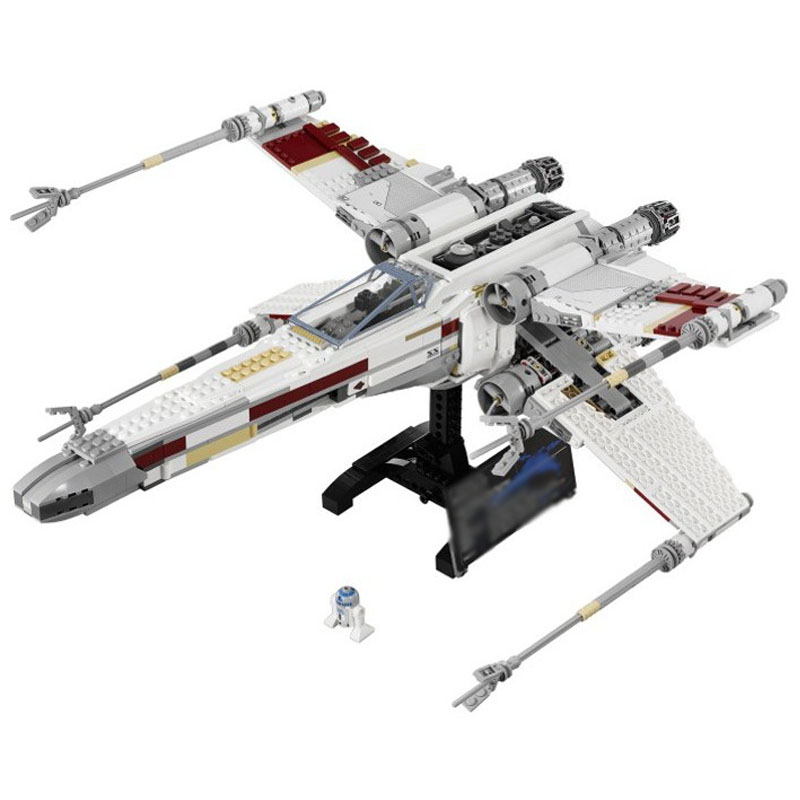 LEPIN 05039 691pcs Star Plan Series The X Model Wing Red Five Star fighte Model Building Block Brick Toy For children Gift 10240 конструктор lepin star plan истребитель повстанцев u wing 679 дет 05054