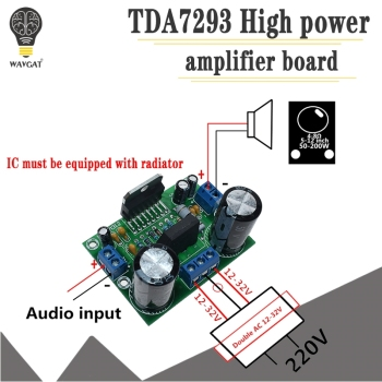 Smart Electronics TDA7293 AC 12V-32V 100W Digital Audio Amplifier Single Channel AMP Board - discount item  26% OFF Active Components