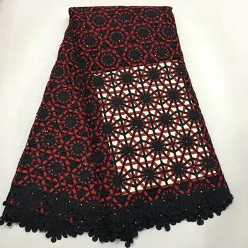 Latest African Lace Fabric 2019 African Guipure Cord Lace Fabric High Quality Nigerican Wedding Lace Fabric  N24