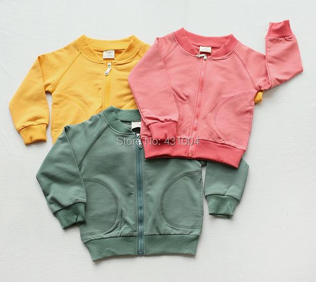 Ropa 2016 niños del otoño muchachas de los cabritos de la chaqueta de béisbol chaqueta de los niños ropa 3 colores