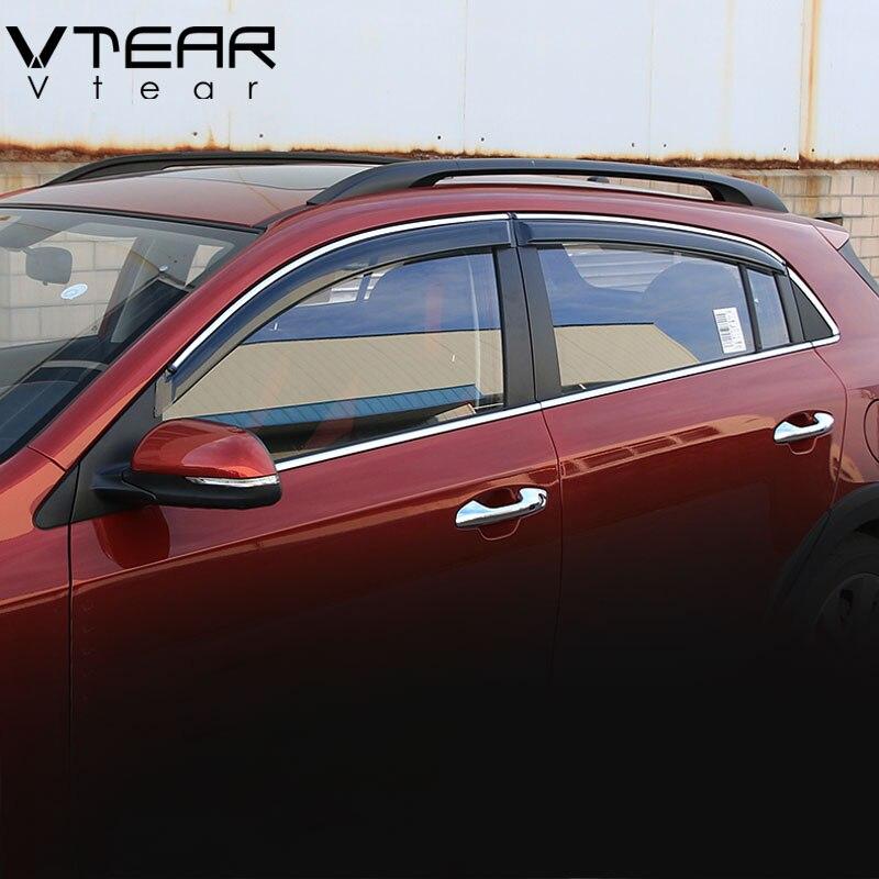Vtear For Kia Rio X Line 5 door window visor Windows side Sun Rain Protection Shield